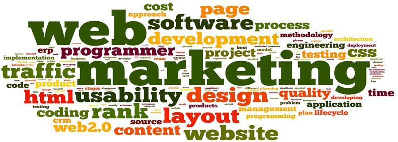 Bild Online und Web-Marketing Leistungen Wortwolke
